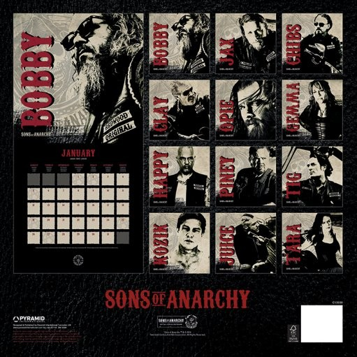 Calendar 2018  Sons of Anarchy