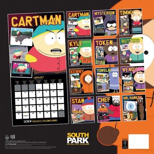 Calendar 2018  South Park