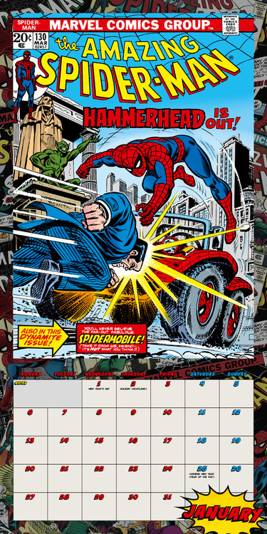 Calendar 2021 Spiderman