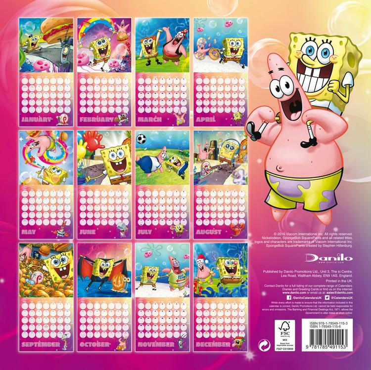 Poster Calendario 2020.Calendar 2020 Spongebob