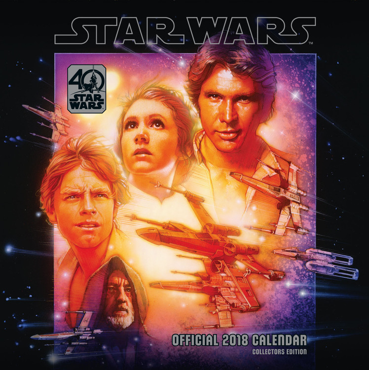 Calendar 2018  Star Wars 40Th Anniversary