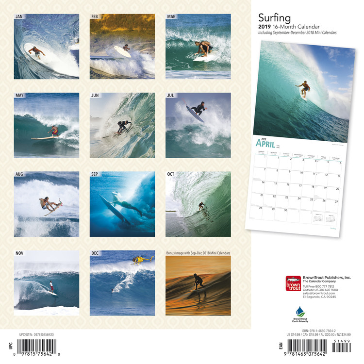 Surfing   Calendars 2021 on UKposters/Abposters.com