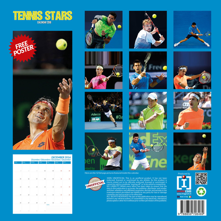 Calendrier Tennis 2021 Tennis   Calendars 2021 on UKposters/Abposters.com