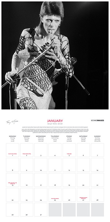 Calendar 2018  Terry Oniel - Iconic Images