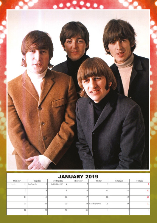 Calendar 2019  The Beatles