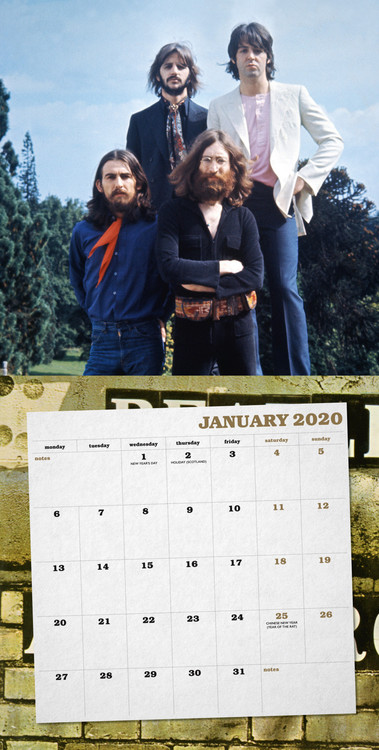 Calendar 2021 The Beatles