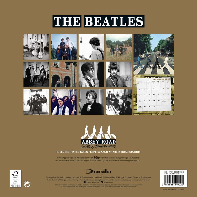 The Beatles   Calendars 2021 on UKposters/EuroPosters
