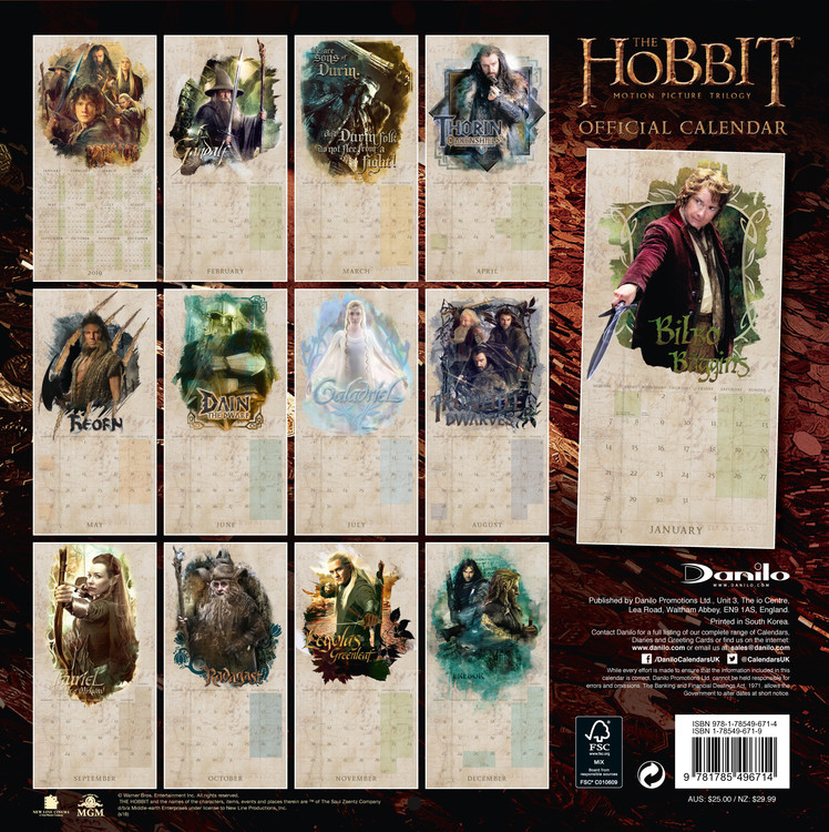 The Hobbit   Calendars on UKposters/Abposters.com