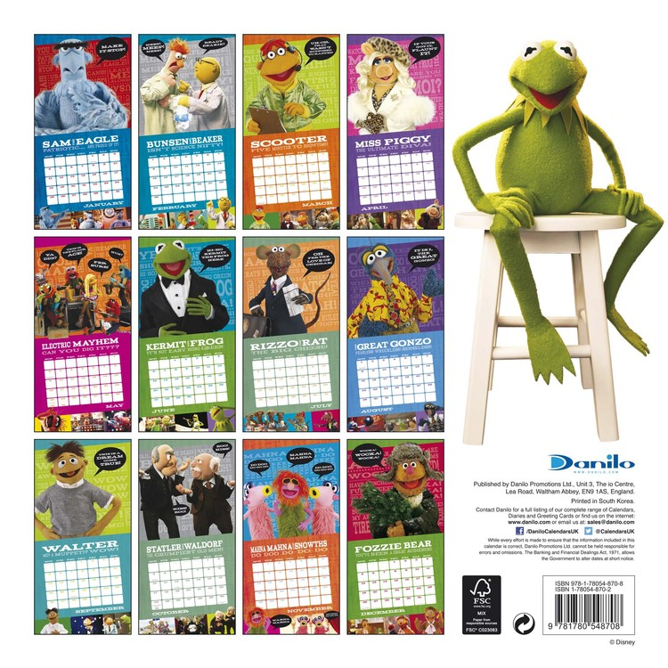 The Muppets - Calendars 2020 on UKposters/EuroPosters