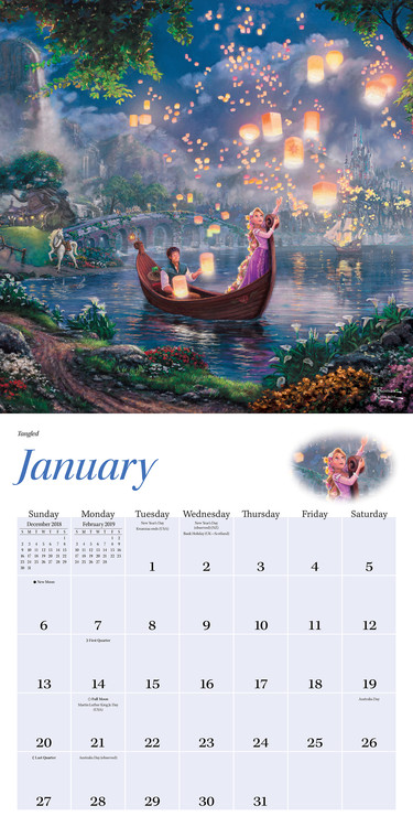 Thomas Kinkade - The Disney Dreams Collection - Calendars 2021 On