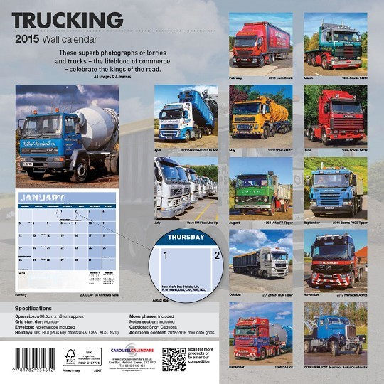 Calendrier Fun Car 2020.Calendar 2020 Trucking