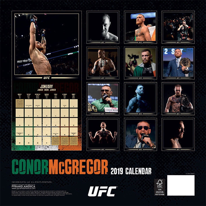 UFC: Conor McGregor   Calendars 2021 on UKposters/EuroPosters