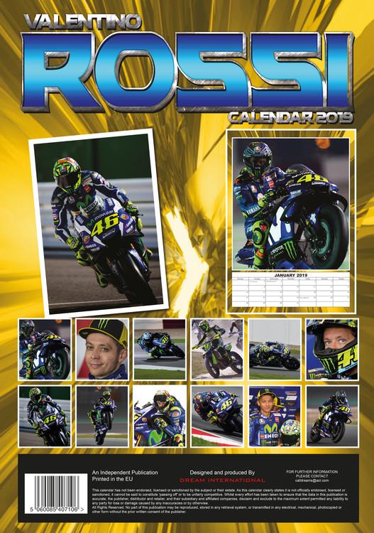 Calendario Valentino Rossi 2020.Calendar 2020 Valentino Rossi