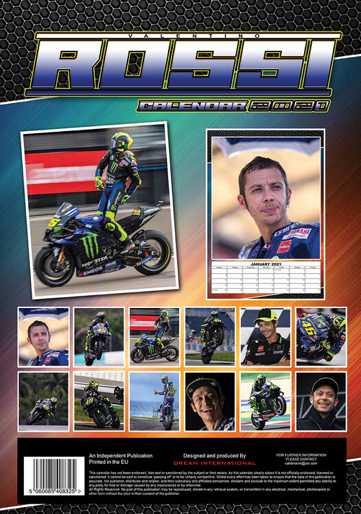 Valentino Rossi   Calendars 2021 on UKposters/Abposters.com