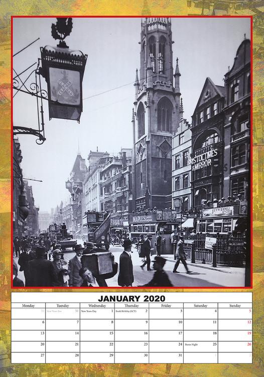 Calendar 2021 Vintage London