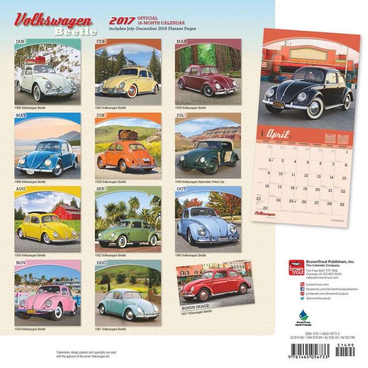 Calendar 2018  Volkswagen - Beetle