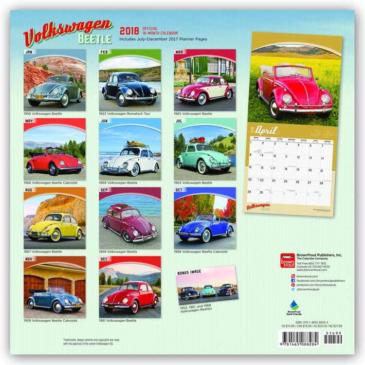 1963 as naptár Volkswagen Beetle   Calendars 2019 on UKposters/EuroPosters 1963 as naptár