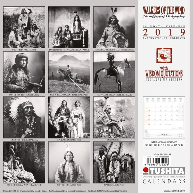 Calendar 2019  Walkers of the Wind
