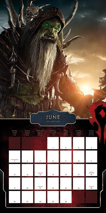 Calendar 2018  WarCraft