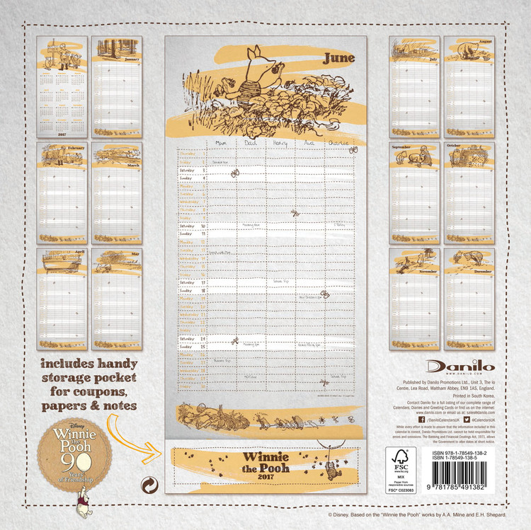 Winnie the Pooh - Organiser - Calendars 2021 on UKposters ...