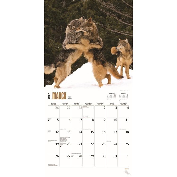 Calendar 2018  Wolves