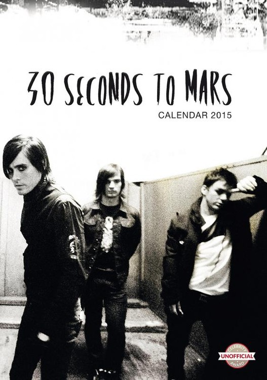 Calendário 2017 30 Seconds to Mars