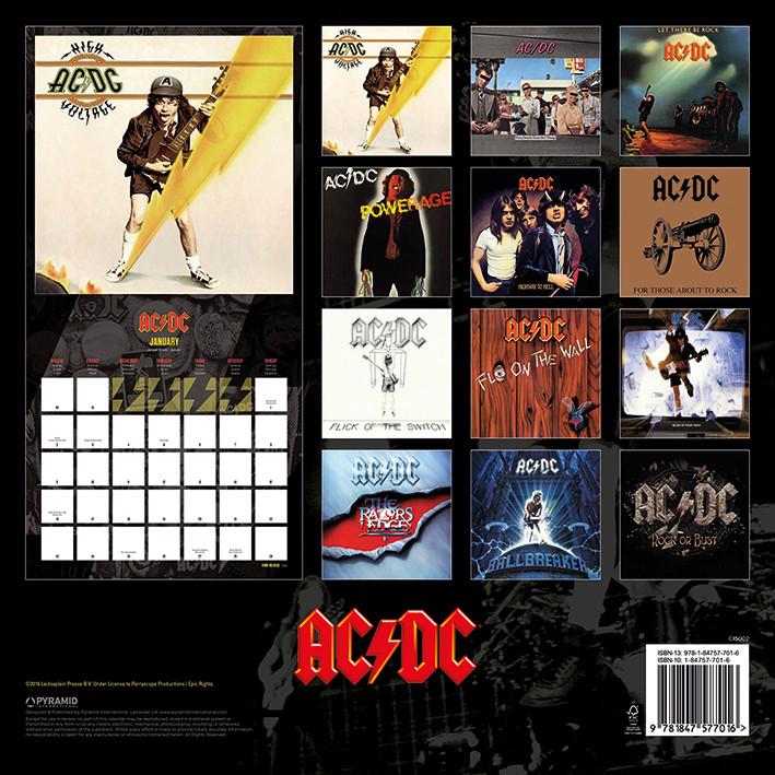 Calendário 2018  AC/DC