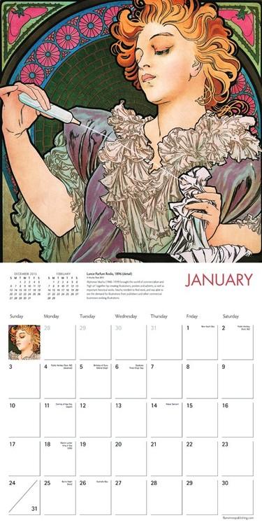 Coming Soon Calendario.Calendario 2020 Alphonse Mucha