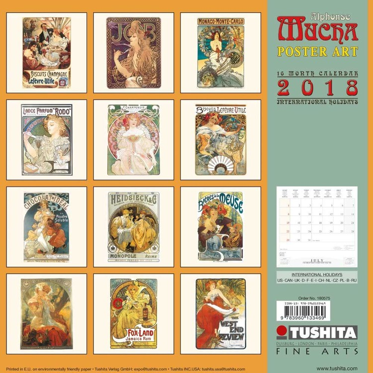 Poster Calendario 2020.Calendario 2020 Alphonse Mucha Poster Art