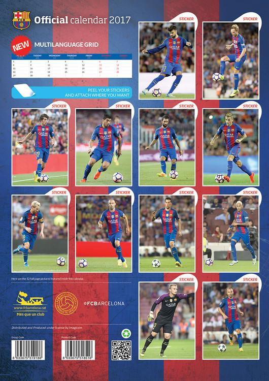 Calendário 2018  Barcelona + 12 free stickers