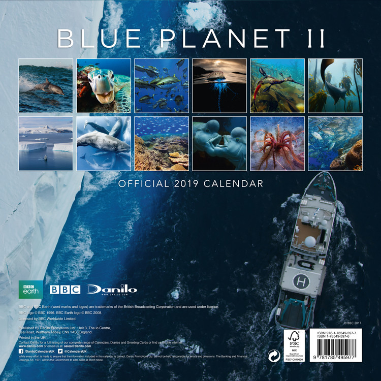 Calendario 2020 Word.Calendario 2020 Bbc Blue Planet