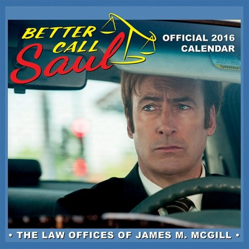 Calendário 2017 Better Call Saul - Breaking Bad