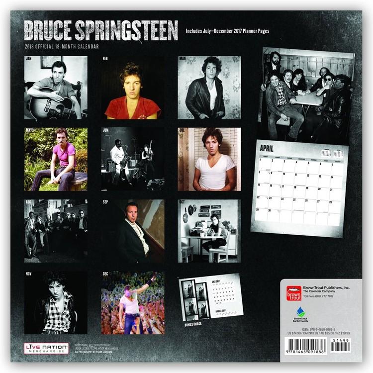 Calendário 2019  Bruce Springsteen