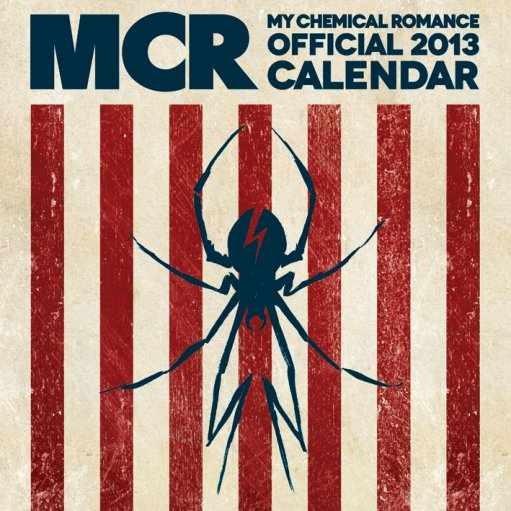 Calendário 2017 Calendar 2013 - MY CHEMICAL ROMANCE