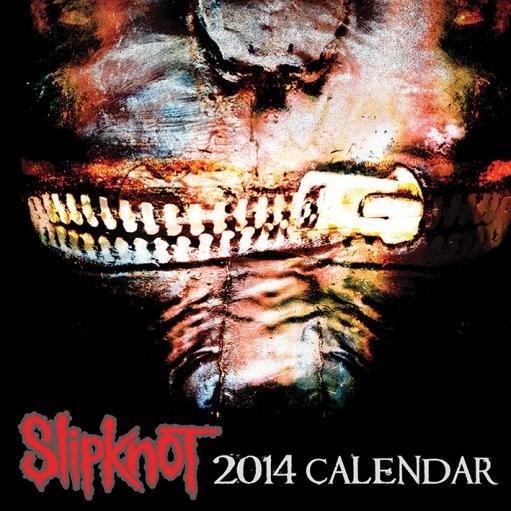 Calendário 2018 Calendar 2014 - SLIPKNOT
