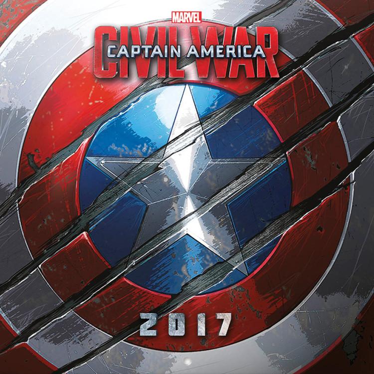 Calendário 2017 Captain America: Civil War