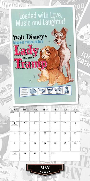 Poster Calendario 2020.Calendario 2020 Disney Vintage
