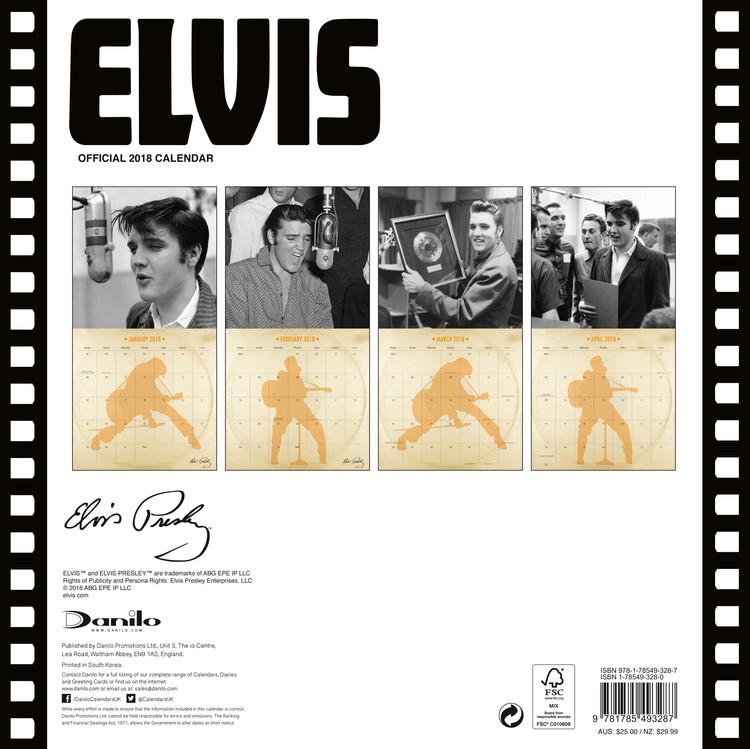Calendário 2018  Elvis - Collectors Edition