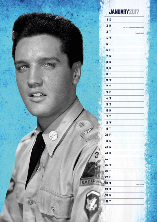 Calendário 2019  Elvis