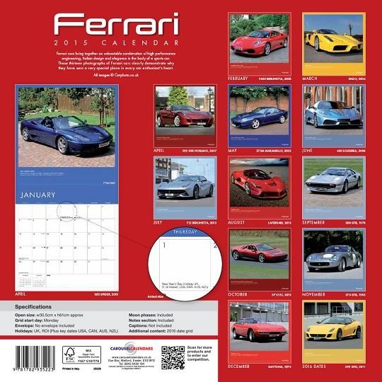 Calendário 2018  Ferrari