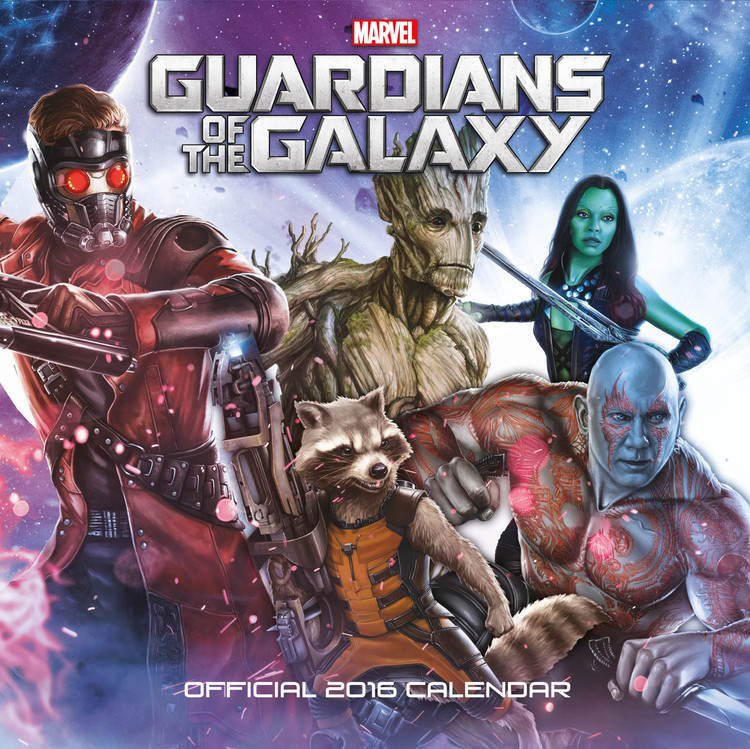 Calendário 2018 Guardians of the Galaxy