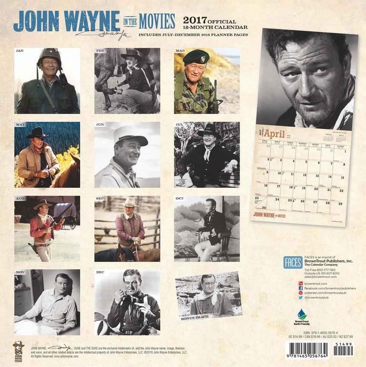 Calendário 2018 John Wayne