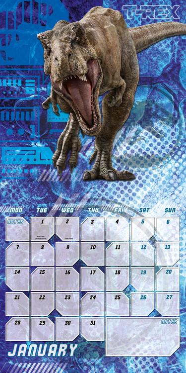 Calendário 2019  Jurassic World Fallen Kingdom