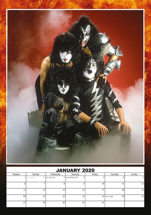 Calendário 2020  Kiss