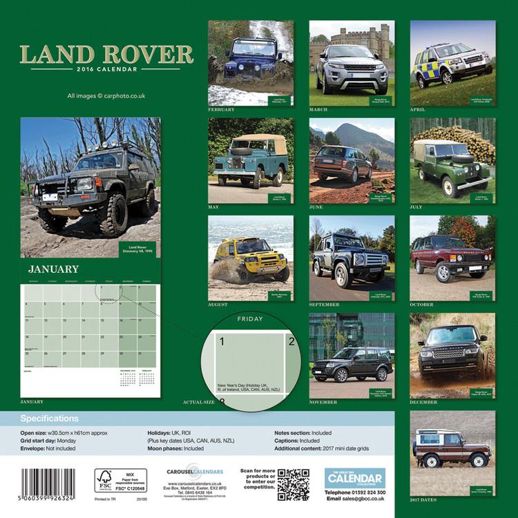 Calendário 2019  Land Rover