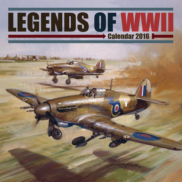 Calendário 2017 Legends of WWII