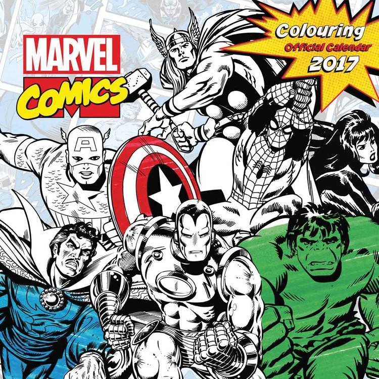 Calendário 2017 Marvel comics