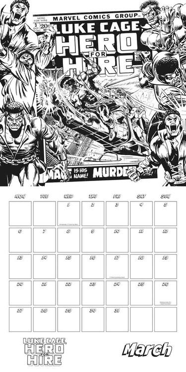 Calendário 2018 Marvel comics