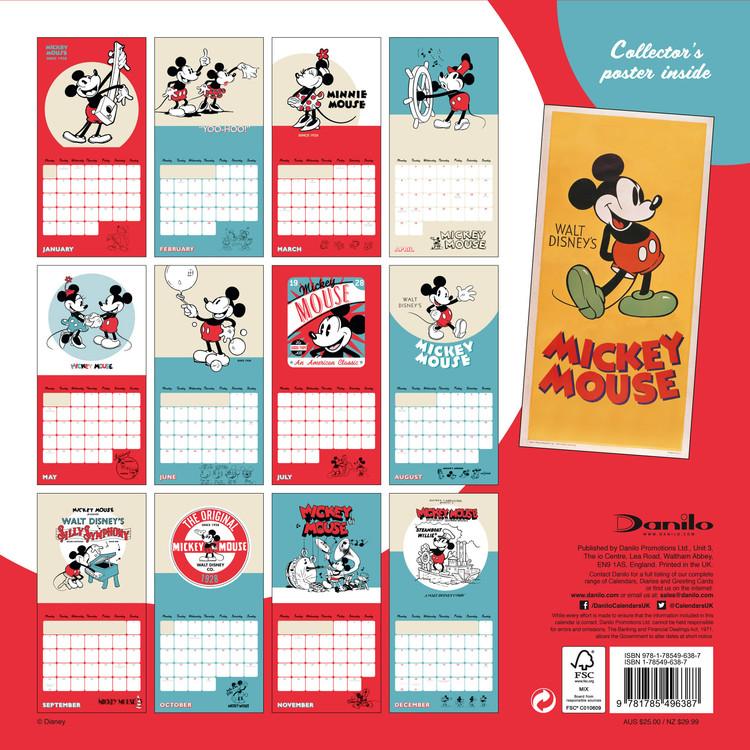 Calendário 2019  Mickey Mouse 90th Anniversary