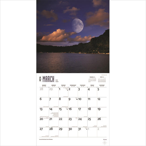 Calendário 2018  Moons